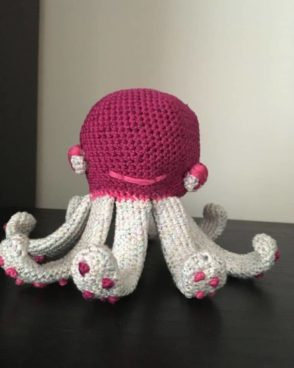 Pieuvre rose : Poulpi l'octopussy
