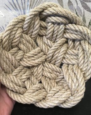 Vide-Poche en véritable corde de marin